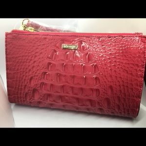 Brahmin clutch purse red
